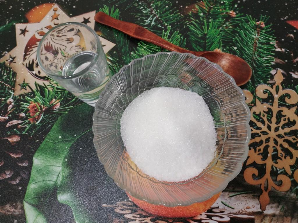Смесь соли и сахара 2 к 1 и 25 грамм водки