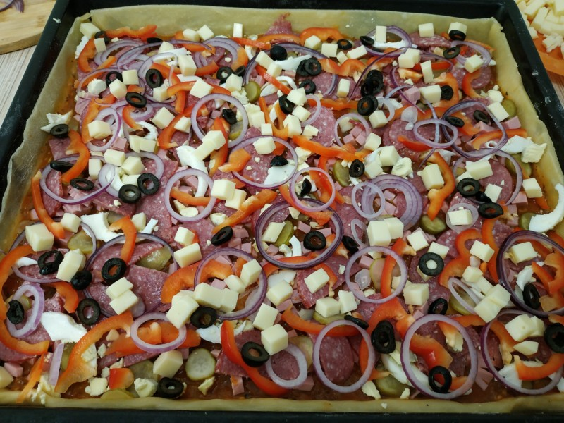 Приготовление пиццы. Пошаговый фото рецепт
