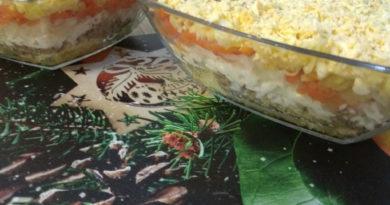 Салат Мимоза по классическому рецепту с сайрой
