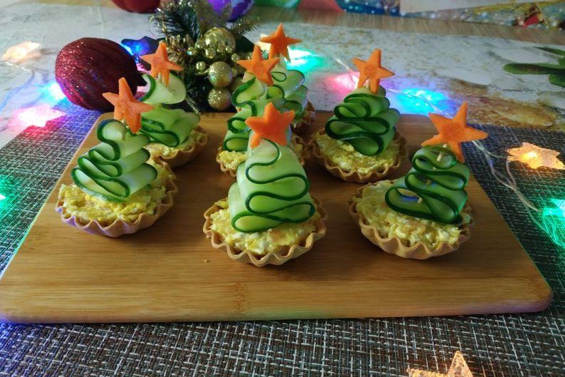 Фото готовой закуски на праздничном столе