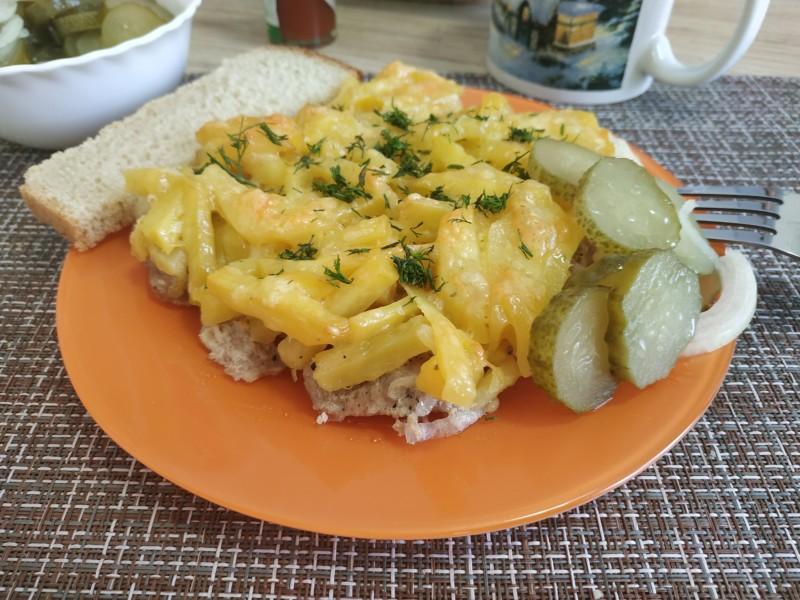 Фото рецепт картофеля по-французски в духовке