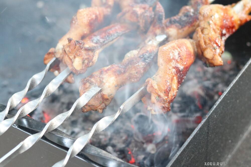 шашлык из куриных крылышек рецепт с фото компоновка