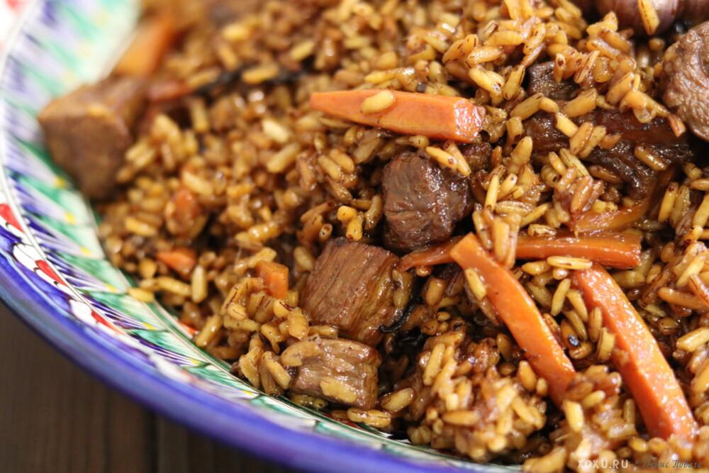 Плов по-узбекски с курицей в казане с рассыпчатым рисом - 2 вкусных рецепта с фото и видео