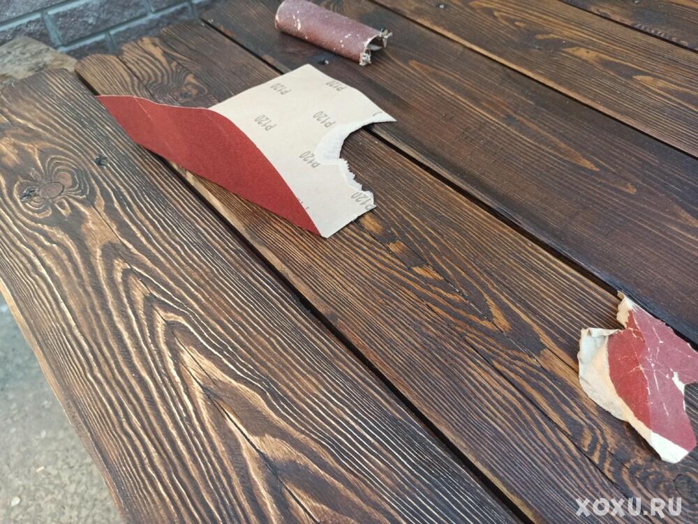 Стол из дерева под старину своими руками. Уличный дачный стол во двор из бруса (бревна)   фото и ход работы