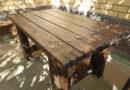 Стол из дерева под старину своими руками. Уличный дачный стол во двор из бруса (бревна) + фото и ход работы
