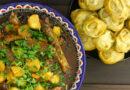 Манты на сковороде (или в казане) в соусе – пошаговый рецепт приготовления